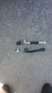 ヤンマーユンボB3Σの代替え用の油圧ホースを加工制作