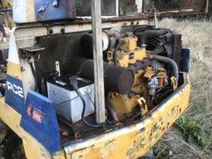 バックホー油圧ホース修理