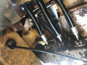 油圧ホース破損