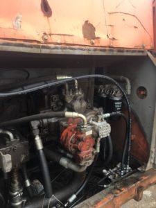 油圧ホースパンク交換