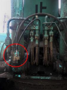 油圧ホース交換後写真